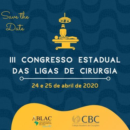 III Congresso Estadual das Ligas de Cirurgia